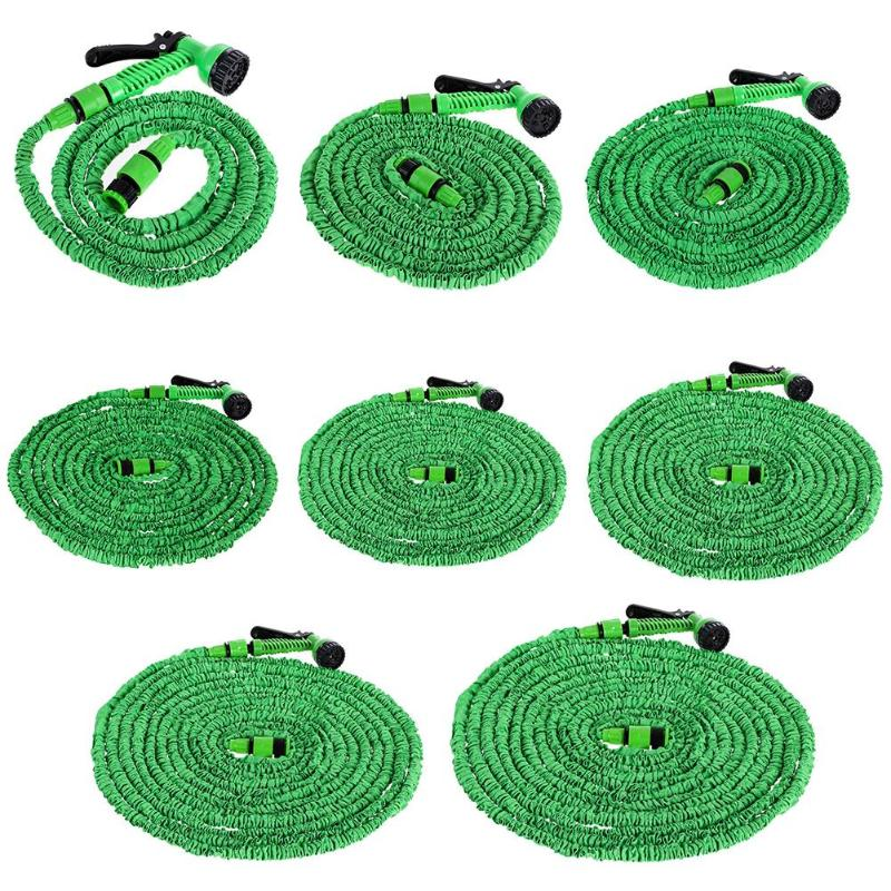 25FT-200FT Expandable Flexible Water Plastic Hoses High Grade Fabric Pipe Multifunctional Watering Spray Gun for Car Garden Home Home & Garden