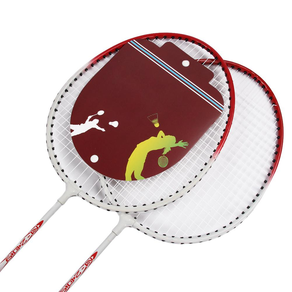 HobbyLane Outdoor Durable Badminton 1 Pair of Racket High-strength Fiber Shockproof with Racquet Bag Hot Sale