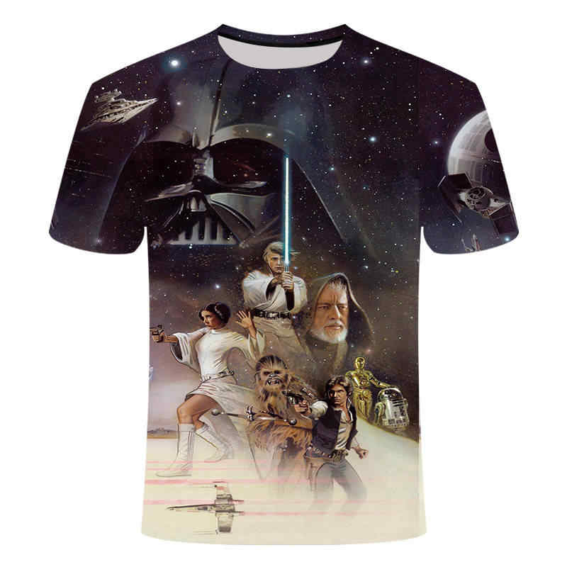 2019 T shirt Homme Camisetas Hombre Novelty Star Wars A New Hope Robot Men T-Shirts Tshirts 3D Print Male Funny Tees S-5XL