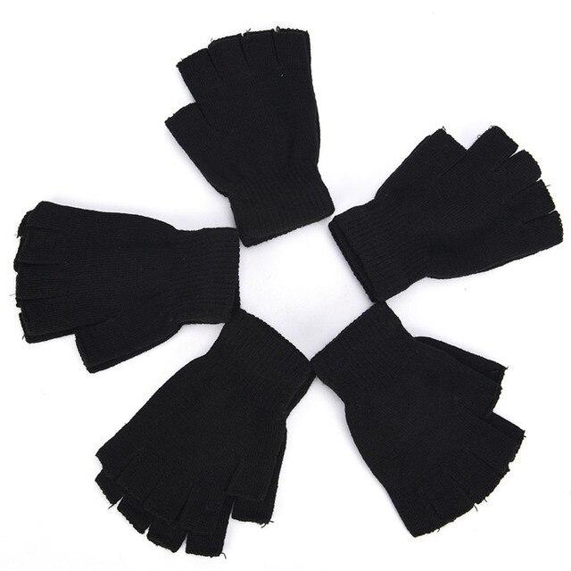 Перчатки без пальцев вязанные осенние 1 пара 5