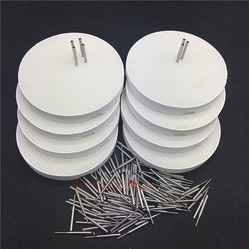Dental Lab Honeycomb Round Firing Trays With Metal Pins Dental Technician Supplies