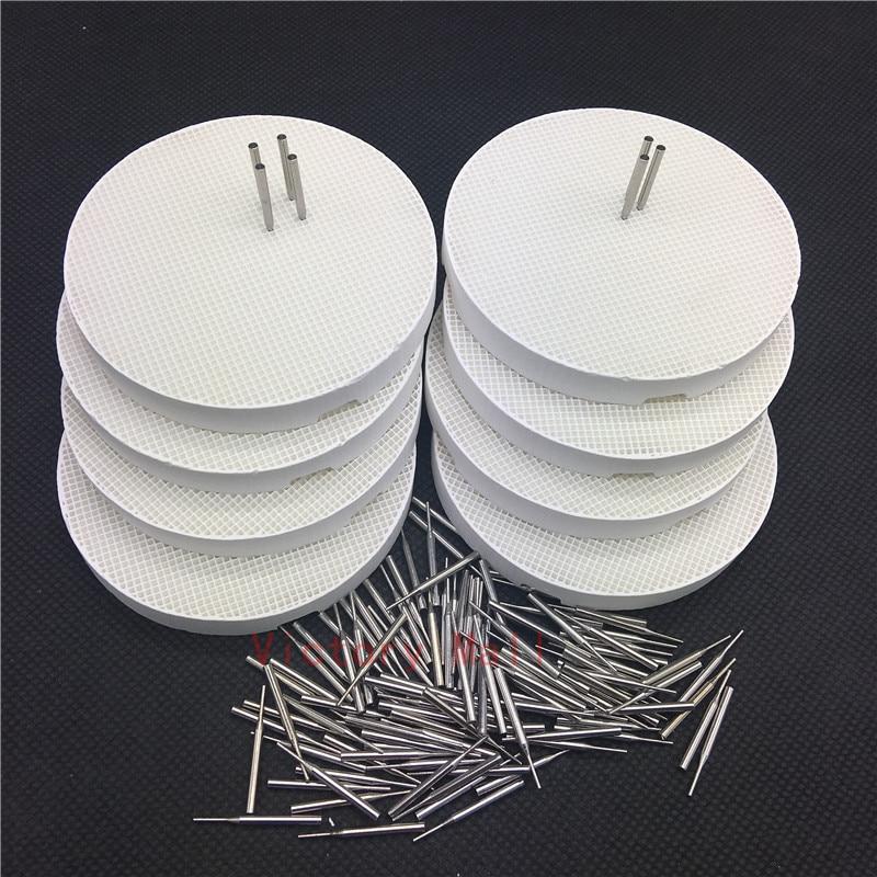 Dental Lab Honeycomb Round Firing Trays With Metal Pins Dental Technician Supplies