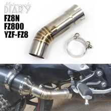 For Yamaha FZ8 FZ8N FZ8S F Z8 S FZ8N YZF FZ8 FZ800 Fazer Motorcycle Exhaust Escape Moto System Muffler Slip On Middle Link Pipe