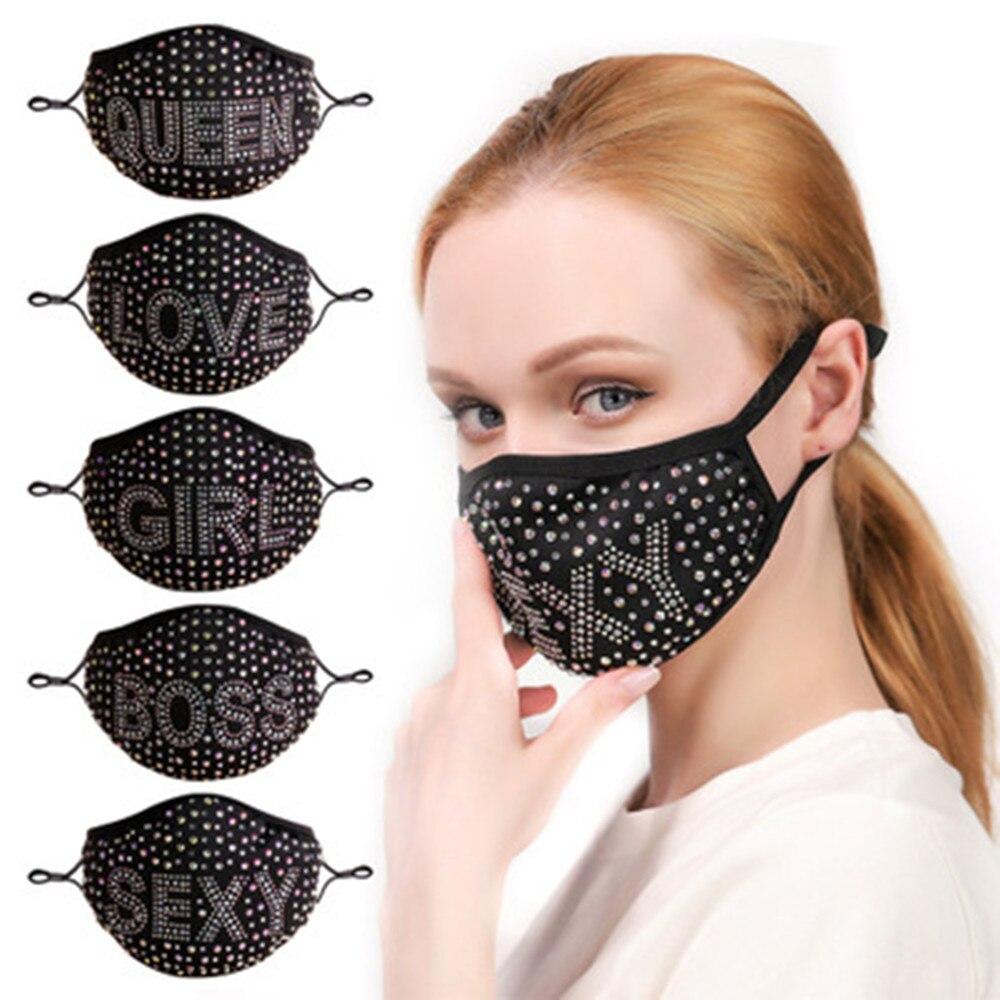 ins-mode-noir-lettre-reine-patron-strass-masque-decoration-visage-bijoux-pour-femmes-cristal-couverture-visage-accessoires-bling-masques