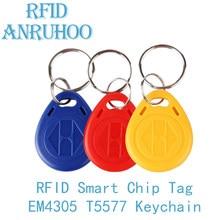 5/10PCS RFID Rewritable ID Card 125Khz T5577 Smart Chip Copy Key EM4305 Copier Duplicator Tag Programmer Badge Keychain