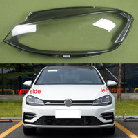Headlight cover Plastic Transparent Shade Headlight Transparent Shell Lampshade Headlamp Cover lens for Vw Golf 7.5 2018 2019