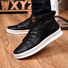 Explosion models autumn and winter wild high to help Korean version of the trend flat white shoes men's shoes casual men's shoes air force no 1 children s shoes 2018 autumn boy leather shoes in the shoes to help girls casual shoes high to help