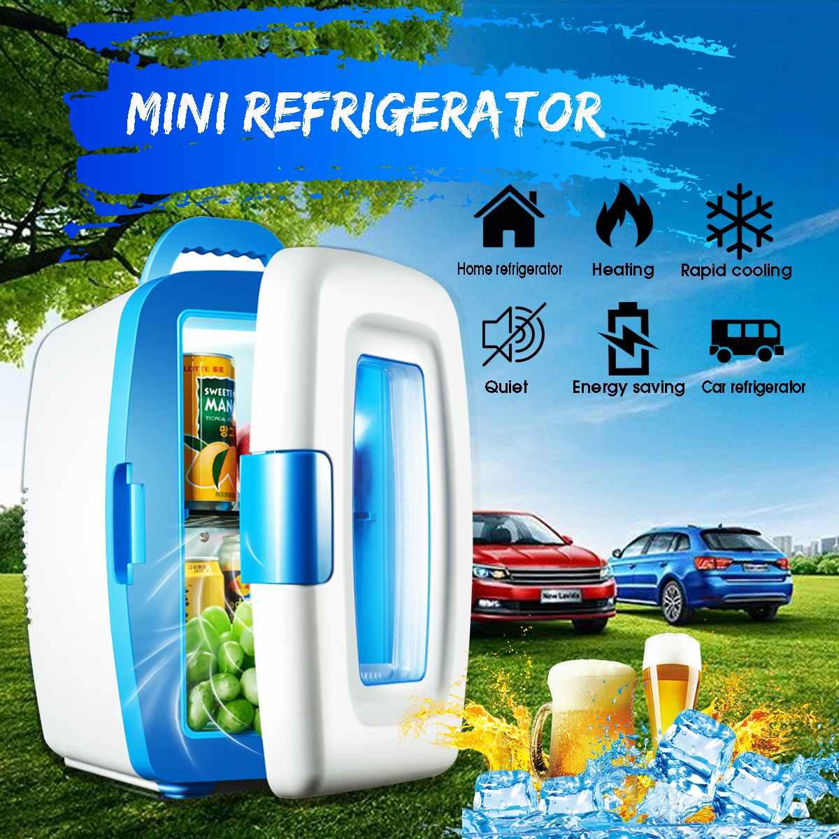 10L  Refrigerator Freezer Cooler Warmer Home Use AC 220V DC 12V