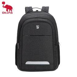 Oiwas mode hommes sac à dos décontracté haute qualité noir sacs à dos grande capacité enfants sac d'école pour adolescents femmes voyage