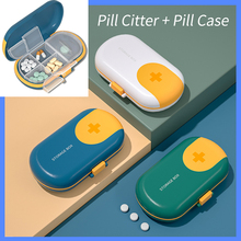 Pill Case Separator For Tablets Portable Mini Pill Cutter Large Size Weekly Storage Box Travel Compartment Sealed Medicine Box cheap CN(Origin) Pill Cases Splitters ABS+PP+stainless steel YH20201122