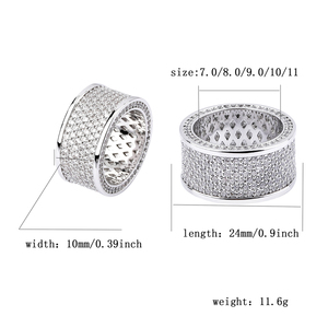 Image 5 - TOPGRILLZ Micro Pave Iced Out Bling AAA+ Cubic Zircon Round Rings Hip Hop Rock Jewelry Copper Material Ring For Man Women