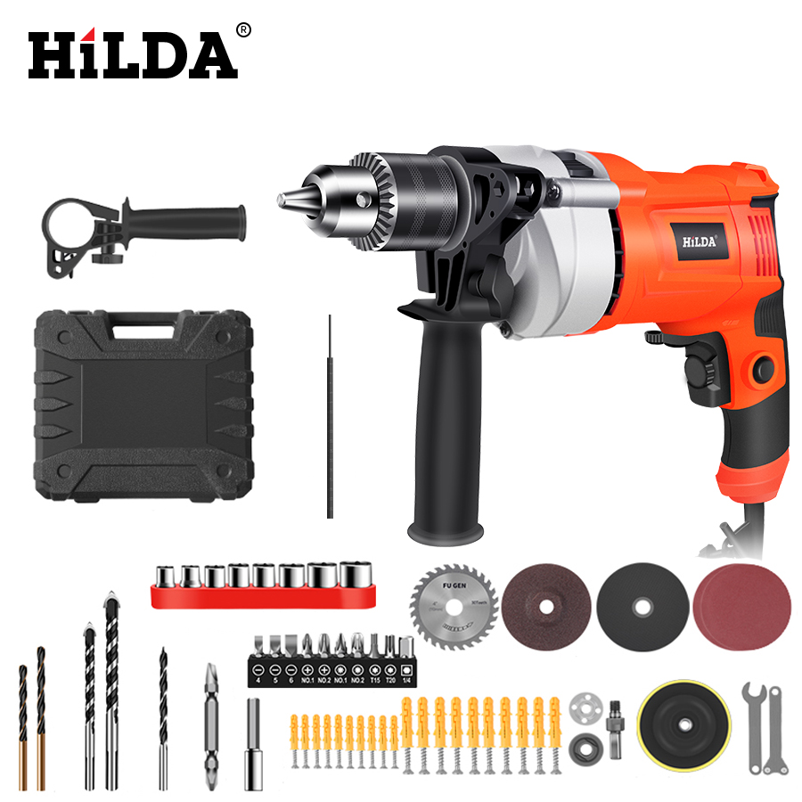 650W Impact electric drill Electric Rotary Hammer with BMC and 5pcs Accessories Impact Drill Power Drill Electric Drill
