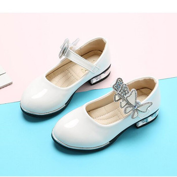 2019 Spring Autumn New Baby Girl shoes Children Shoes Flower Dress for Girls 3 4 5 6 7 8 9 10 11 12-16year pink blue white