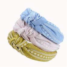 Women Fashion Cute Cloth Knotting Leaves Wide Hairband Hair Rope Headband Girl