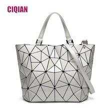 Hologram-Bag Geometric Handbag Silver Casual Women's Totes-Laser New