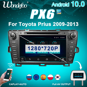 Car radio 2 DIN Android 10 PX6 For Toyota Prius 2009 2010-2013 2DIN car stereo auto audio navigation multimedia system screen