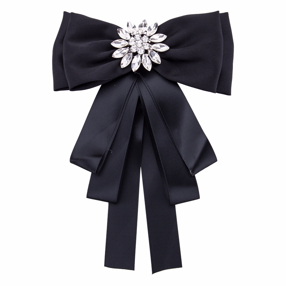 Fashion Multilayer Exaggerated Bow Tie Brooch Ribbon Bowties Women's Suit Shirt Collar Decoration Clothing Accessories