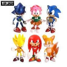 6 pçs/lote 7 centímetros Personagens de Anime Brinquedos Modelo PVC Figuras Brinquedos