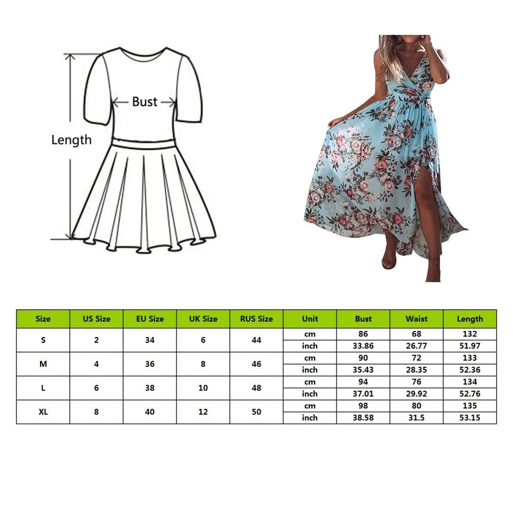 MoneRffi Sexy Deep V-neck Floral Print Party Dress Women 2020 Summer Sleeveless Chiffon Dress Spring Split Long Dresses Vestidos