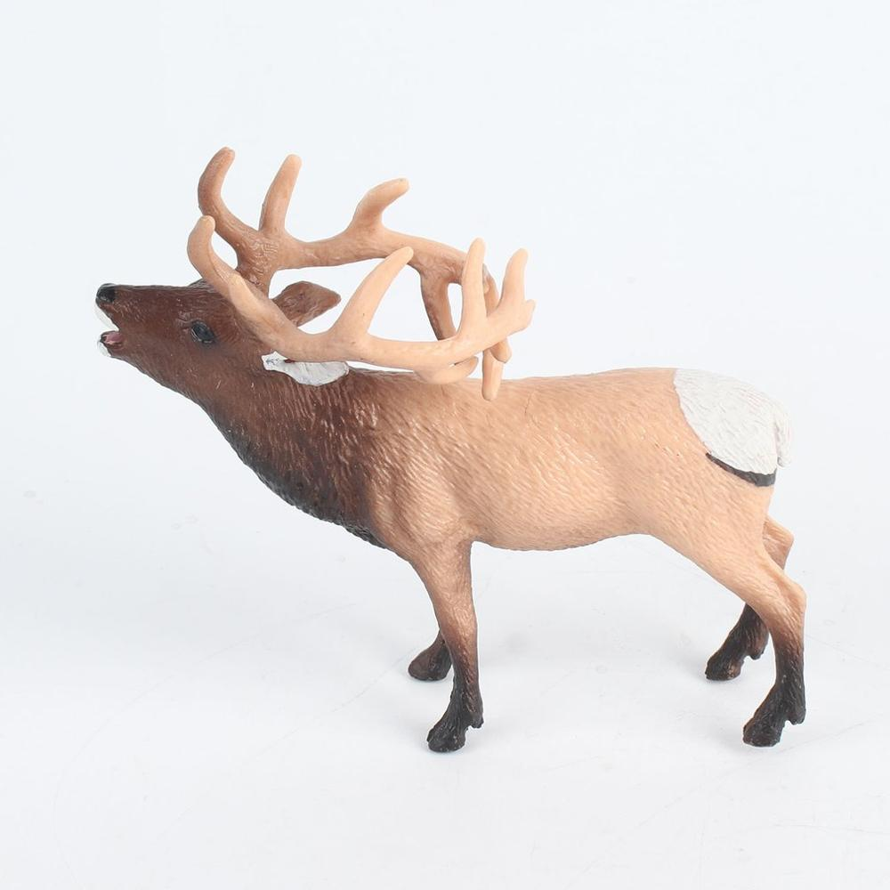 Simulation Lifelike Wild Animal Toy Deer Model Figurine Action Figures Home Decor Educational Toys For Children Home Ornament