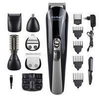 Kemei 11 In 1 Multifunction Hair Clipper Professional Hair Trimmer Electric Beard Trimmer Hair Cutting Machine