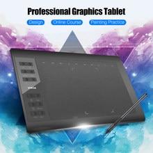 Tablette de dessin graphique professionnelle 10x6 pouces 12 touches Express 8192 niveaux stylet sans batterie/pince à stylo Support PC/ordinateur portable