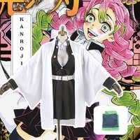 Anime Comic Dämon Slayer Kimetsu Keine Yaiba Cosplay Kostüme Kanroji Mitsuri Cosplay Kostüm Frauen Tuch Klinge Von Dämon Kimono