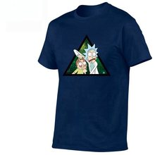 2019 Brand Euro 100% Cotton,Men's Anime Rick and Morty Printing T-shirt Summer New Arrival Streewear Tshirt Homme Women Tee(China)