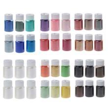 6 cores cosméticos grau resina pigmentos em pó mica natural corante mineral