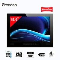 Freecan Premium widescreen 15.6 inch Waterproof Bathroom TV, Freeview Shower LED Mirror TV