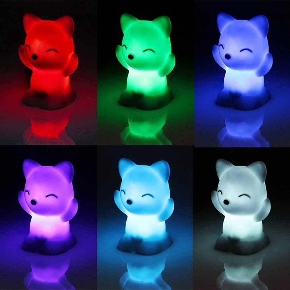 7 색상 변경 사랑스러운 거북이/여우 모양 사랑스러운 침실 장식 아기 선물 로맨틱 다채로운 빛 웨딩 파티 장식