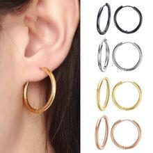 VNOX – boucles d'oreilles créoles en acier inoxydable pour homme et femme, bijoux unisexe de 25mm/20mm/11mm