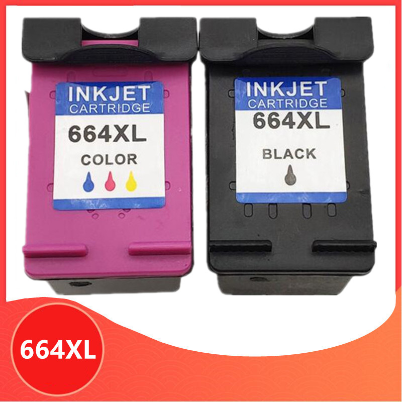 2PK For HP 664XL For Hp 664 Ink Cartridge For HP664 Deskjet 1115 2135 3635 2138 3636 3638 4535 4536 4538 4675 4676 4678 Printer