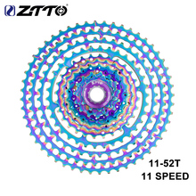 ZTTO MTB 11S 11 52T SLR2 Cassette Ultralight Colorful Freewheel 11V 11 Speed K7 Sprocket bicycle parts mountain Bike HG System