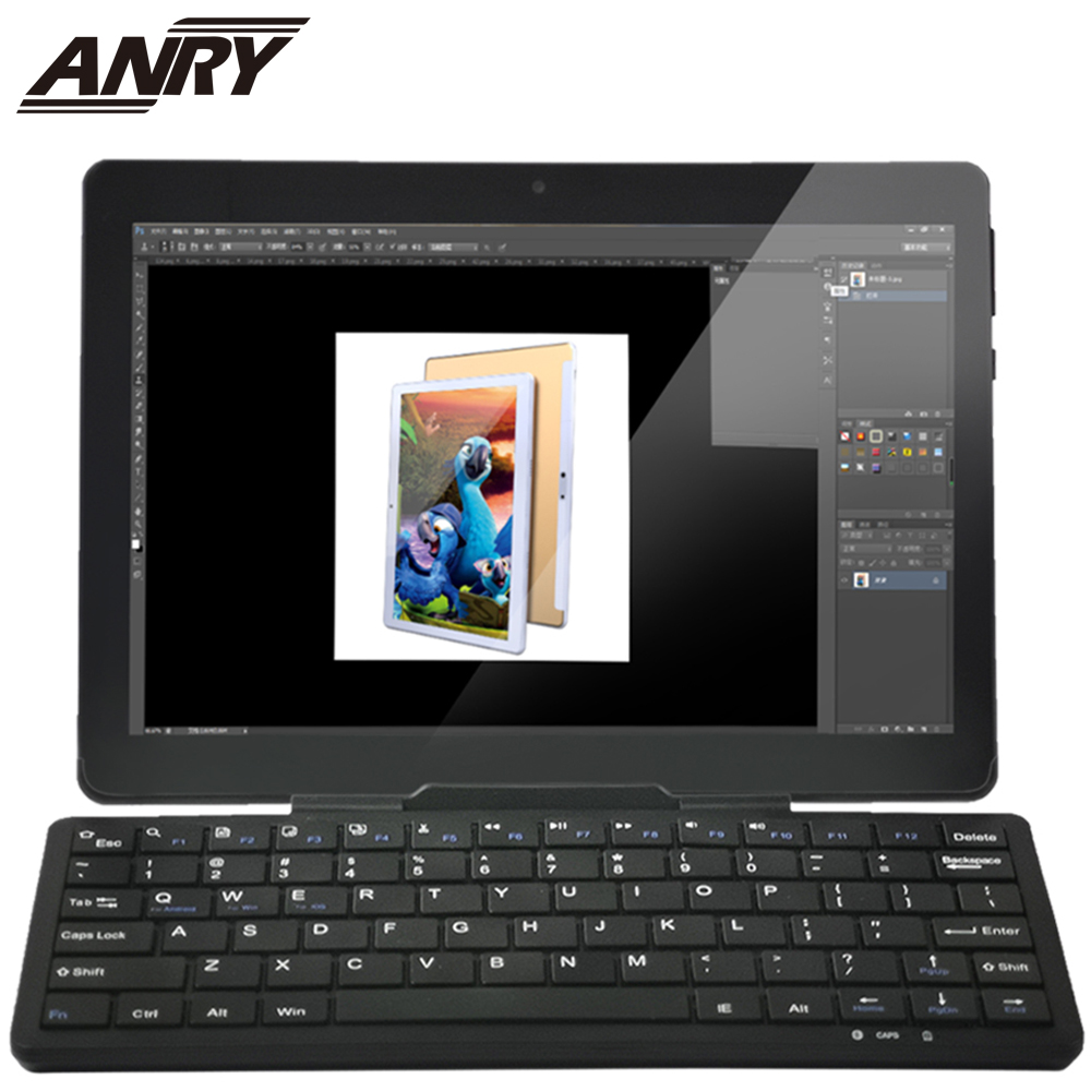 ANRY AN25 Keyboard Android Tablet 10.1 Inch 3G/4G Phone Call Phablet Wifi GPS Bluetooth 64GB ROM 4 GB RAM Dual Cameral Sim Card