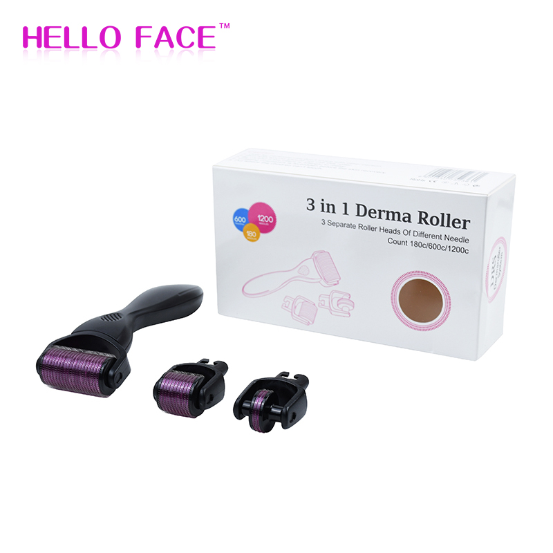 3 In1 Derma Roller Professional DRS Cosmetic Microneedling Dr Dermaroller For Face Care And Hair-loss Treatment