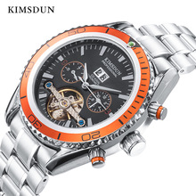 KIMSDUN Top Brand Men Automatic Hollow Tourbillon Mechanical Watch