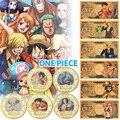 5 шт. WR позолоченные монеты, коллекционные монеты в коробке, японские монеты с вызовом, аниме монеты, Оригинальные подарки для мужчин, Прямая ...