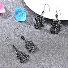 2019 Women Vintage Black Rose Flower Dangle Drop Earrings Ear Hook Wedding Party Earring Wholesale aretes de mujer modernos