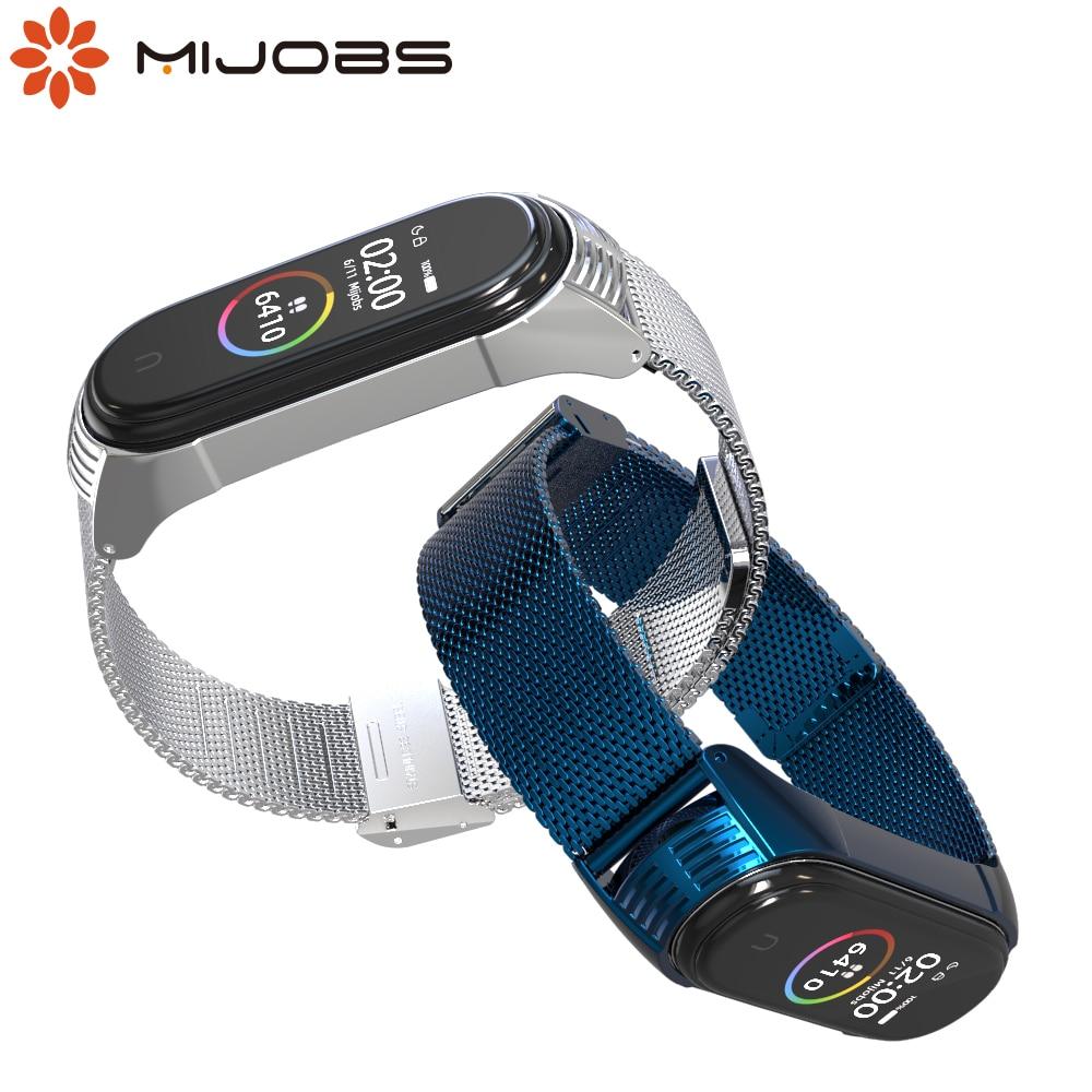 Mi Band 4 Strap For Xiaomi Mi Band 4 Bracelet Metal Stainless Steel Wrist Strap For Xiaomi Band 4 3 Smart Wristbands Pulseira