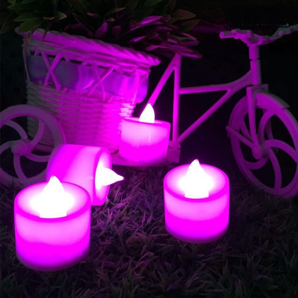 1 шт. Креативный светодиодный светильник-свеча, многоцветная Лампа, имитирующая цвет пламени, чайный светильник, украшение для дома, свадьбы, дня рождения, Прямая поставка