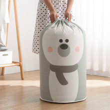 Cute Large Capacity Quilt Storage Bag Clothes Packaging Toy Packing Bag Closet Clothing Organizer Bag For Pillow Blanket Bedding
