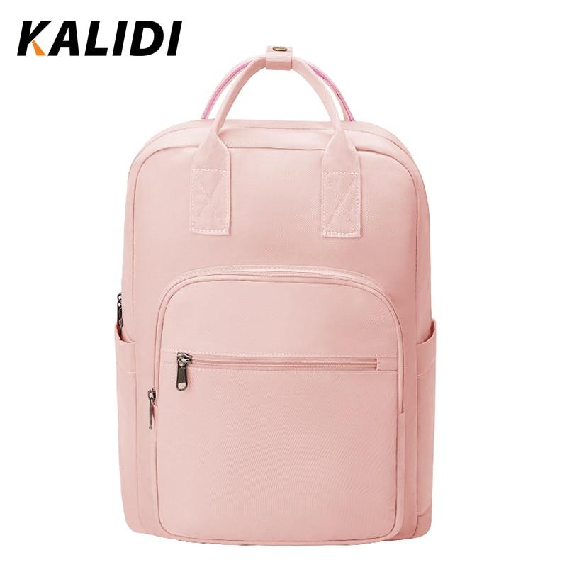 KALIDI Fashion Backpack Women Waterproof Laptop Backpack 15.6  For Teenager Gril Multifunction School Backpack Female Daypack