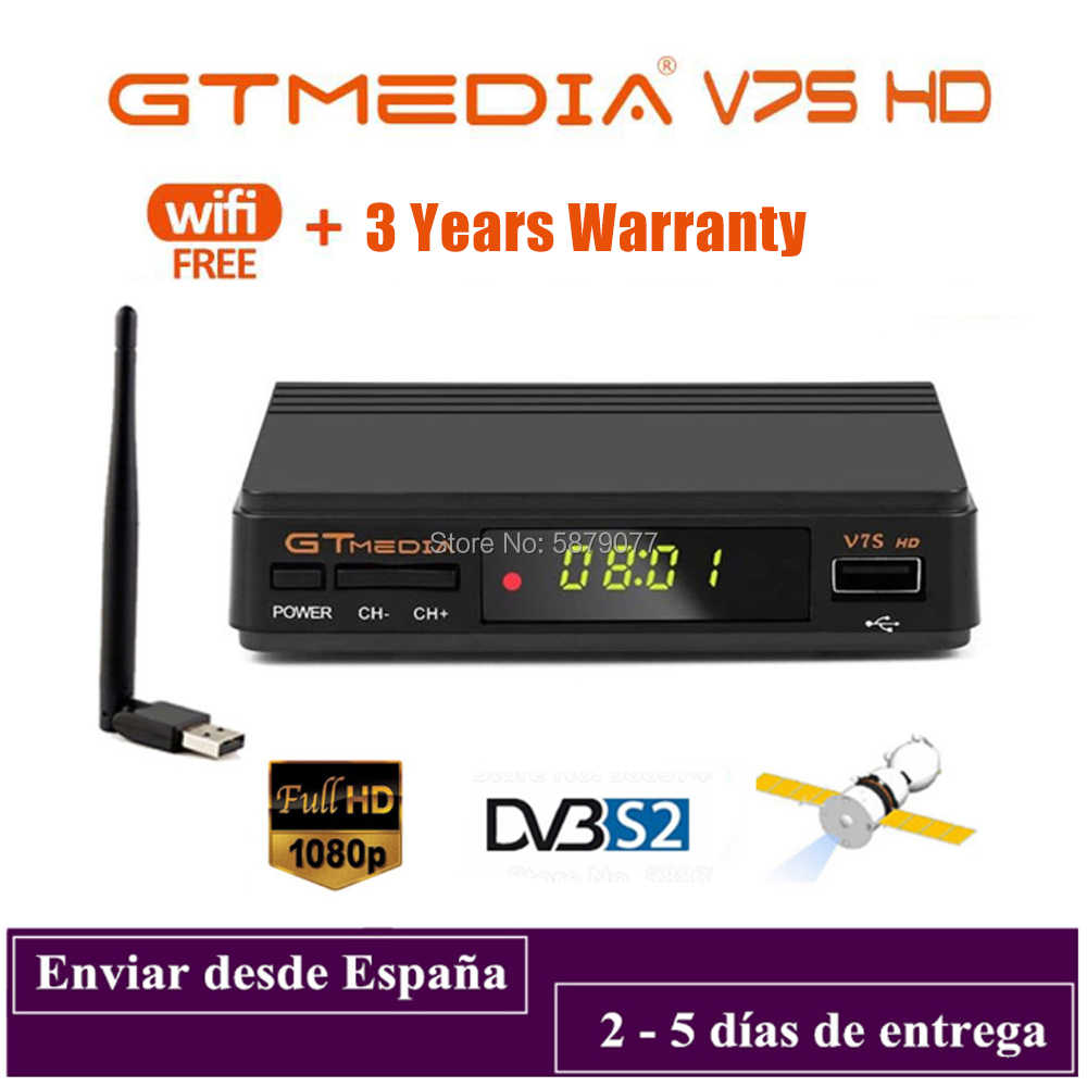 DVB-S2 Gtmedia V7S Hd 1080P Digitale Receptor DVB-S2 Satellietontvanger Tv Tuner Hd Box Cline Decoder Biss Vu Pvr freesat V7