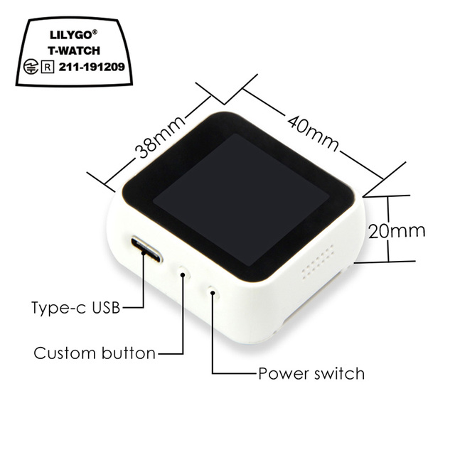 LILYGO® TTGO T Watch Programmable Wearable Environmental Interaction WiFi Bluetooth Lora ESP32 Capacitive Touch Screen