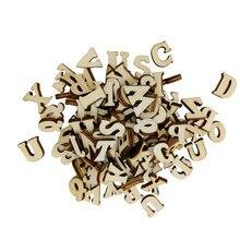 100 adet karışık alfabe ahşap adet bezemeler el sanatları Scrapbooking