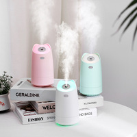 Umidificador 280 ml ultra sônico usb aroma difusor de óleo essencial cor romântica noite lâmpada névoa criador humidificador portátil|Umidificadores| |  -