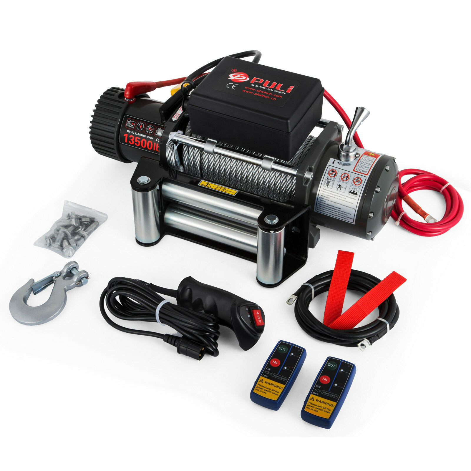 Free Shipping Electric Winch Offroad 4x4 Motor Winch Cable 12V 13500lbs 6123.5KG 5KW