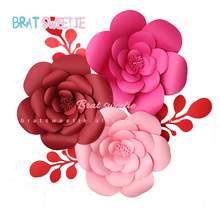 30 см DIY бумажные цветы искусственные розы свадебный фон день рождения стены декорация праздничные украшения Цветы для настенного декора