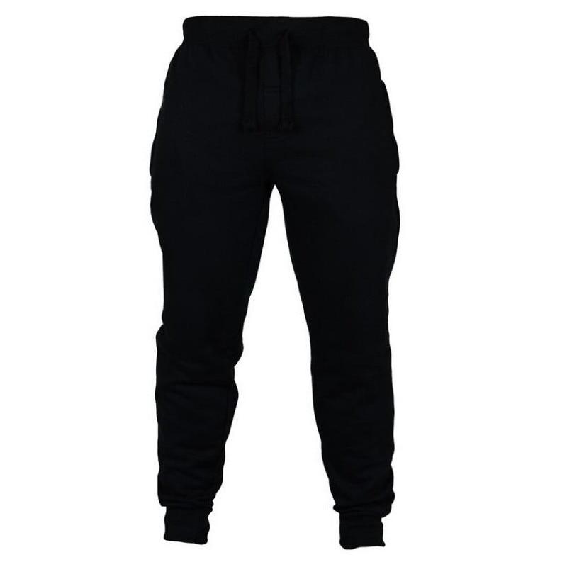 Pantaloni sportivi da uomo pantaloni Casual Fitness uomo abbigliamento sportivo pantaloni sportivi pantaloni sportivi Skinny pantaloni palestre nere pantaloni sportivi da jogging 2